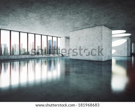 Luxury office interior - stock photo