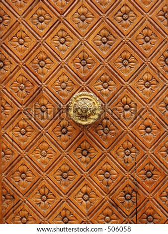 luxury part of door - stock photo
