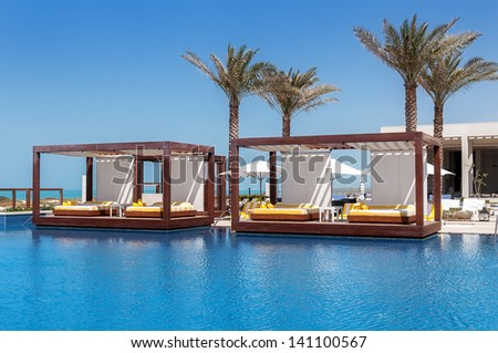 luxury place resort and spa for vacations - stock photo