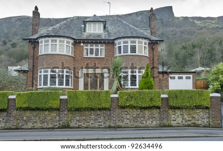 Luxury property in Belfast with Cavehill behind - stock photo