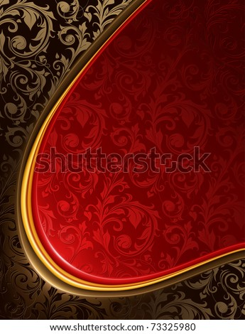Luxury red and black Background, bitmap copy - stock photo