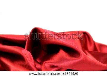 Luxury red satin - stock photo