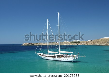 Luxury Sailing Vessel in Mediterranean Waters - stock photo