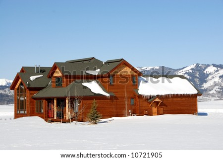 Luxury second Home in the mountains - stock photo
