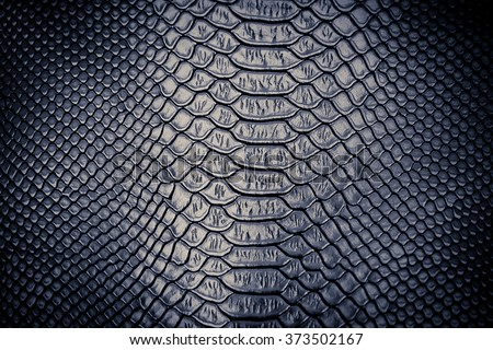 Luxury snake skin texture use for background - stock photo