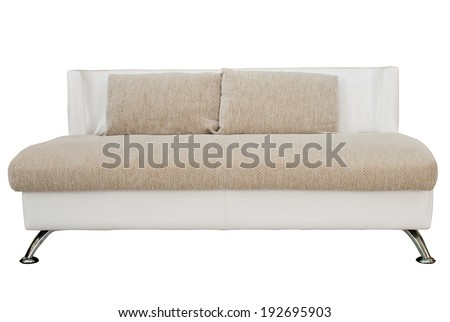 Luxury sofa isolate on white with path - stock photo