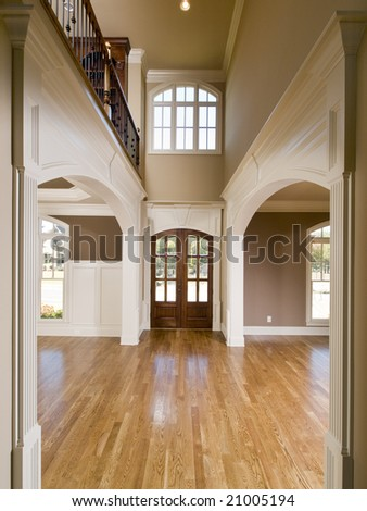 Luxury Symmetrical Arch Entrance Vertical view - stock photo