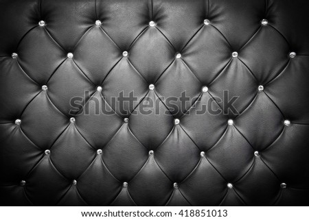 luxury texture of leather furniture decorated with crystal - stock photo