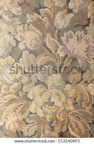 luxury vintage background of fabric sofa - stock photo
