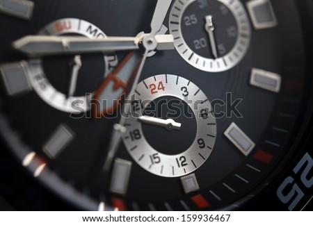 Luxury watch, chronograph closeup - stock photo