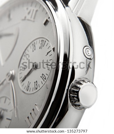 luxury watch swiss made - stock photo