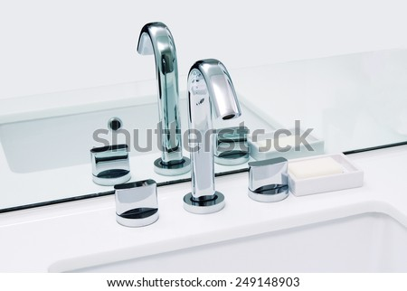 luxury water sink in room - stock photo