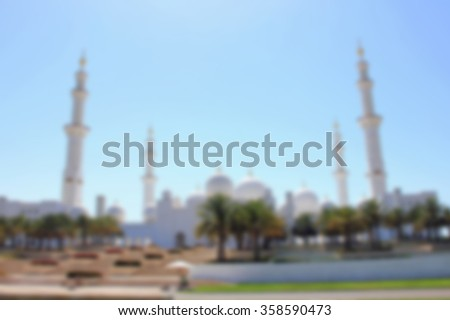 Luxury white yacht   Dubai,blurred for a background for greeting cards - stock photo