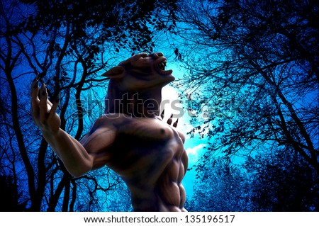lycan how in up side view - stock photo