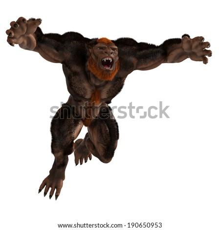 lycan jump - stock photo