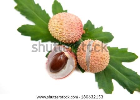 lychee nut - stock photo