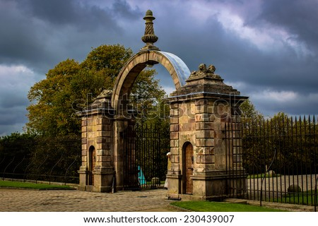 Lyme Hall Entrance - stock photo