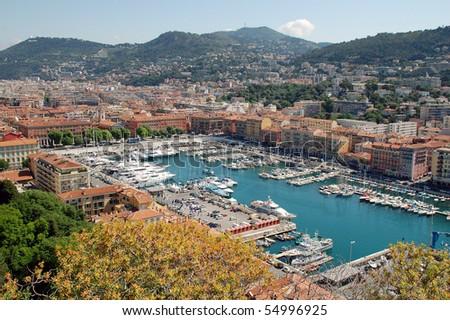 Lympia port of Nice, French riviera - stock photo