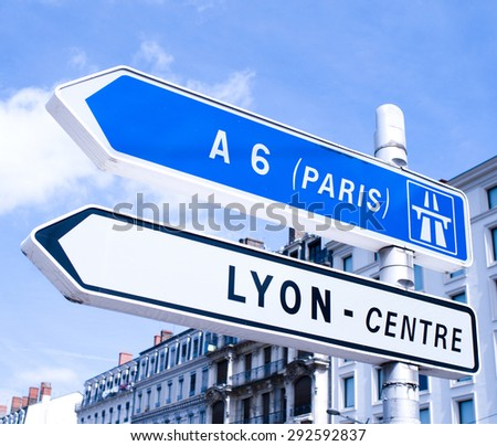 lyon-paris - stock photo