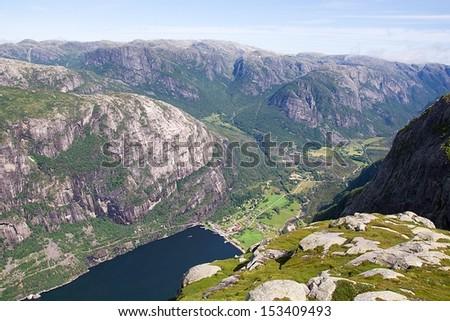 Lysebotn fjord, Norway - stock photo