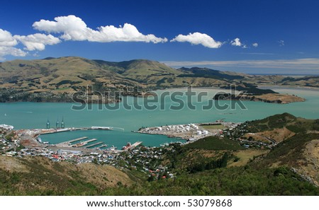 Lyttelton Port of Christchurch - stock photo