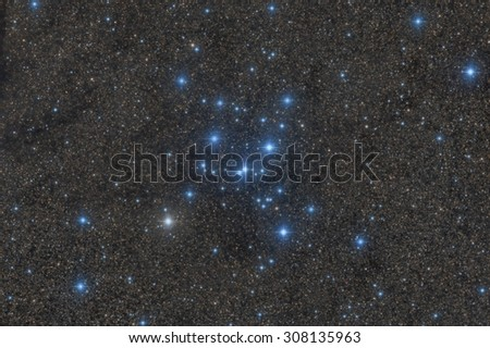 M7, A Beautiful Open Cluster in Scorpius - stock photo