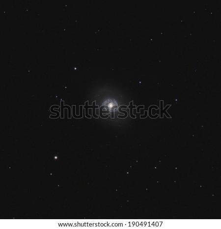 M94, a spiral galaxy in Canes Venatici - stock photo