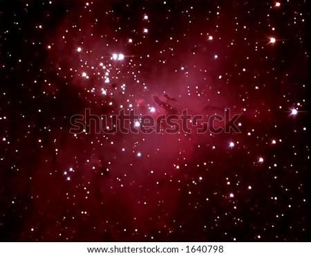 M16 Eagle Nebula - stock photo