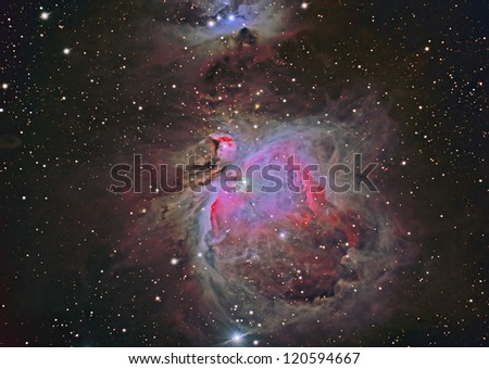 M42 Great Orion Nebula - stock photo