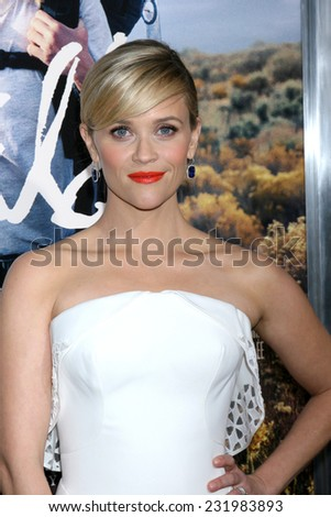 """m LOS ANGELES - NOV 19:  Reese WItherspoon at the """"Wild"""" Premiere at the The Academy of Motion Pictures Arts and Sciences on November 19, 2014 in Beverly Hills, CA - stock photo"""