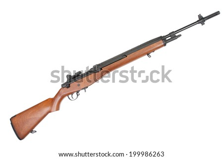 M14 rifle - stock photo