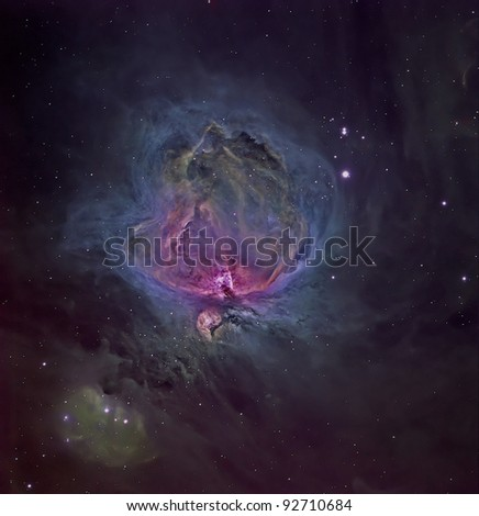 M42 The Great Nebula in Orion - stock photo