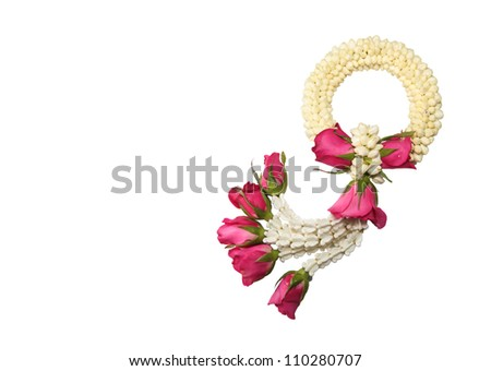 Maalai The flower in Thai Traditional Style - stock photo
