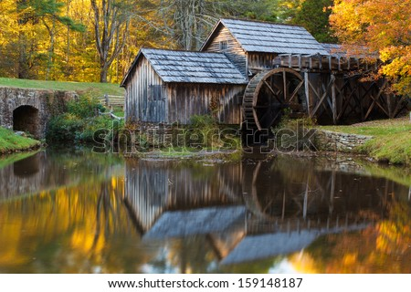 Mabry Mill, Blue Ridge Parkway Virginia  - stock photo