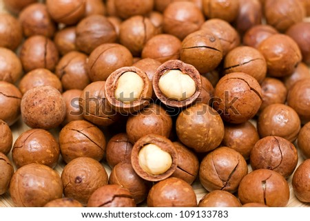 Macadamia - stock photo