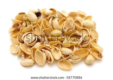 Macadamia isolate shot. Is taken in line macro. - stock photo