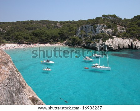 Macarella Beach (Menorca) - stock photo