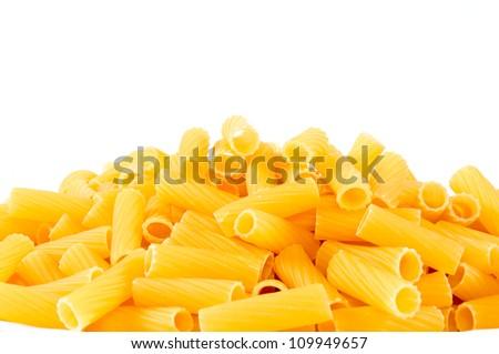 Macaroni isolated on white - stock photo