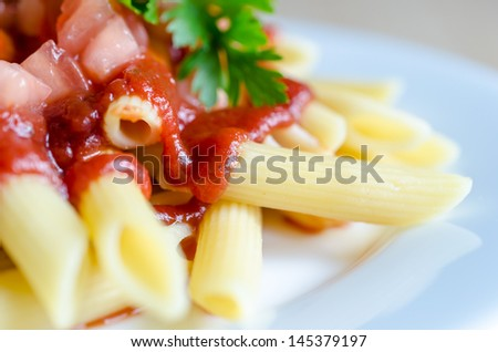 Macaroni pasta - stock photo