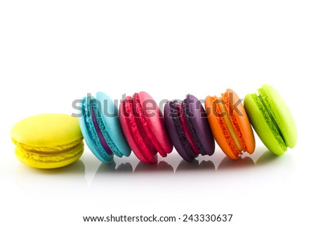 Macaroon isolated on white background  - stock photo