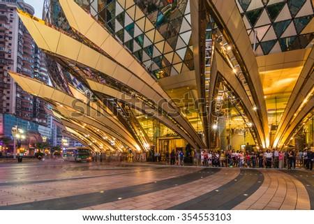 MACAU,CHINA - NOV 23:The Grand Lisboa Hotel on Nov 23, 2015 in Macau. This is a major tourist attraction in Macau. - stock photo