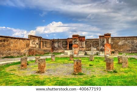 Macellum, an ancient market in Pompeii, Italy - stock photo