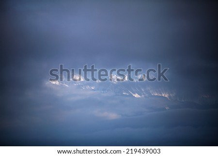 Machhapuchhre and Annapurna mountain - stock photo