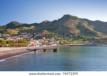machico on madeira island, portugal - stock photo