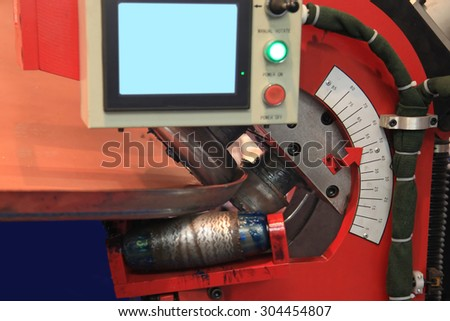 machine for bending metal complex shape CNC - stock photo