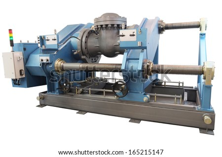 Machine for pipe hydrostatic test - stock photo