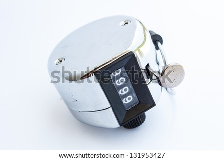 Machine for the press to count - stock photo