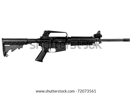Machine gun isolated over a white background - stock photo