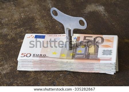Machine of Euros - stock photo