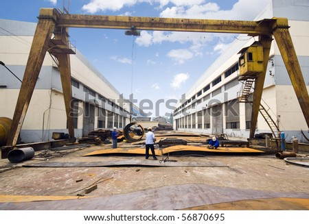 Machinery manufacturing factory in China - stock photo